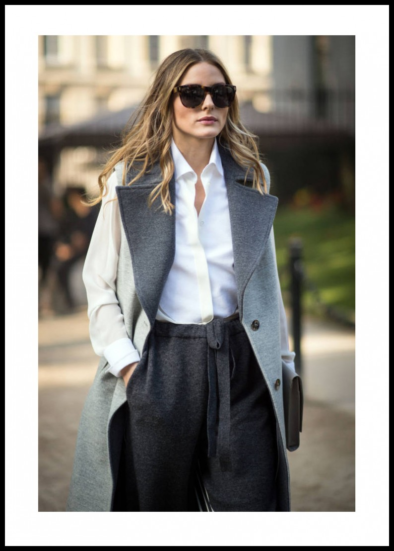Olivia palermo grey outfit
